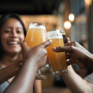 Cheers friends blond beer